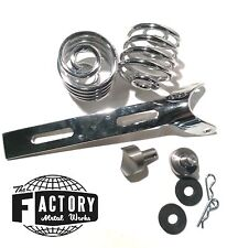 "Triumph Harley xs cb Bobber Chopper Solo Seat Mount 2"" Springs Weld on Bung Kit"