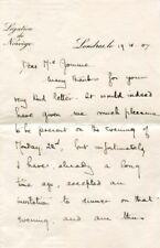 Fridtjof Nansen AMUNDSEN autograph, letter signed
