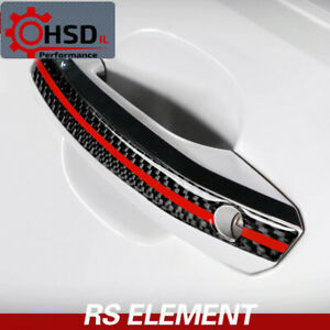 For Audi A4 A5 2017-22 Carbon Fiber Door Handle Anti-collision Strips Trim Cover