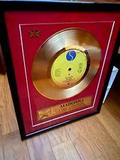 MADONNA 4 Karat Gold 45 Vinyl Like a Prayer Like a Virgin Angel - Dua Lipa Gaga