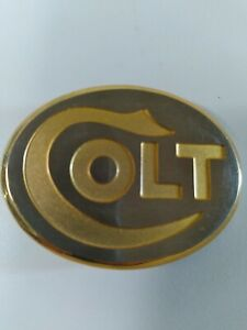 Colt Firearms Factory Gold Colt Belt. Needs Buckle Back Piece. SB2