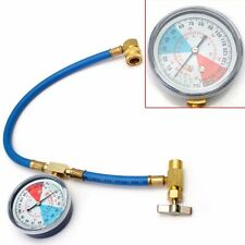 1X 430m Metal Measuring R134A Refrigerant Hose Gauge Kit for Universal Car Auto