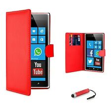 Wallet PU Leather Case Cover For Nokia Lumia Various Phone   Screen Protector