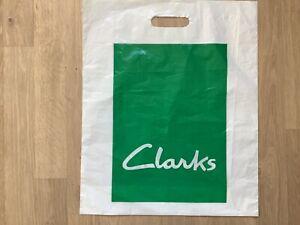 Vintage Retro Clarks Shoe Shop Plastic Carrier Bag 43cm x 36cm