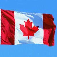 Large 3' x 5' High Quality Nylon Canadian Flag - Free Shiping