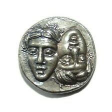 Artisan Made Sterling Silver Ancient Coin Greek Stater GEMINI TWINS 1:1 Argent