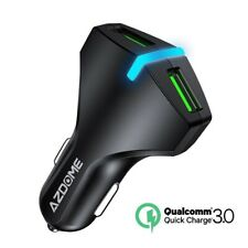 Car Fast Charging 3.0 5V 3A LED Dual USB Mobile Charger For iPhone X/8/8 Plus