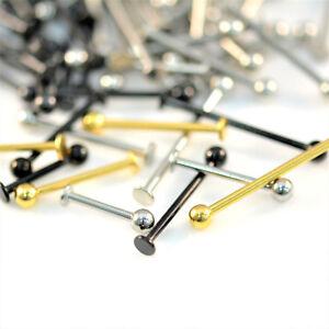 CHEEK Piercing Bar Long Labret Bar Dimple Piercing Stud 316L Surgical Steel