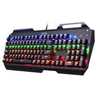 Mechanical Gaming Keyboard Ergonomic RGB Light 104 Key USB Wired + Mouse Combo