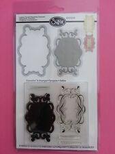 Sizzix 658293 Framelits 5Clear Stamps 2Dies Labels,Flourish,Etiquettes,Ornement