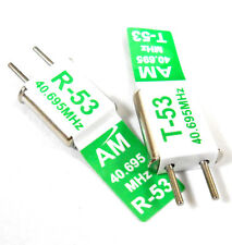 RC + Receptor CRISTAL PAR 40MHz 40.695AM TX & RX receptor 40mhz CH 53 Verde