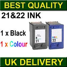 2 ink CARTRIDGE Unbrand fits for HP 21XL 22XL Deskjet F2280 F22655 F4100 F4140