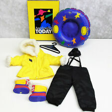 American Girl Doll TERRIFIC TUBING OUTFIT Gloves Snow Boots Jacket Ski Pants BOX