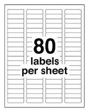 "800 DCC® GENERIC White Return Address Labels 1/2 x 1.75"" fits #5267 size"