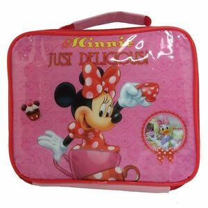 DISNEY Sac à gouter rose lunch bag MINNIE Just Delicious Neuf