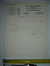 Used letter dated 1908 to Charles V. France, signed Arthur Bourchier (#F)