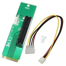 PCI-E 4X Female to NGFF M.2 M Key Male Adapter Power Cable with Converter Card