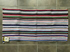 "Vintage Reversible Throw Rug Woven Striped Rag NOS 24x45"" Lot B"