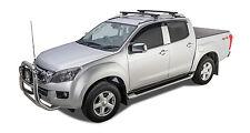 Rhino Pair of Vortex Roof Racks DMax Dual Cab to Suit Rails 06/12 on Black