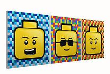 """Teste lego set di tre 10 """"montato Quadrato Tela Stampe Immagini"""