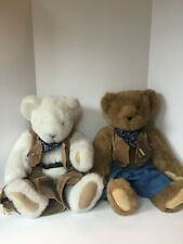 Pair of Vermont Teddy Bear Co. Stuffed Country Bears