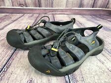 Keen Newport Womens 9.5 / 40 Gray Leather Sport Sandals Waterproof pL4