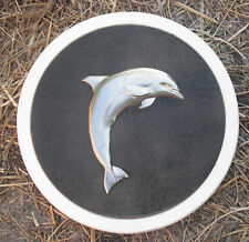 Dolphin stepping stone plastic mold concrete plaster