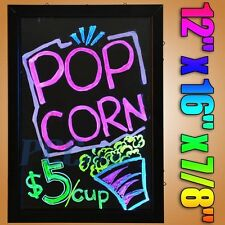 "12""x16"" Flashing Illuminated Erasable Msg Restaurant LED Writing Board H LED02"