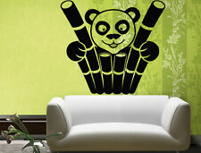 Wall Stickers Vinyl Decal Bamboo Panda Funny Animal Wall Decor Mural ig050