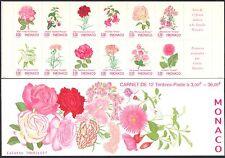 Monaco 1995 Roses/Fuchsia/Lily/Carnation/Flowers/Plants/Nature 12v bklt (b1639m)