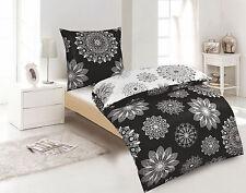 Bettwäsche 100%  Baumwolle WENDE Abstrakt Schwarz Weiß Übergröße 135x200 cm NEU