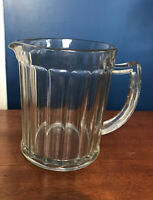 Vintage Clear Glass Water/Juice Pitcher With Handle