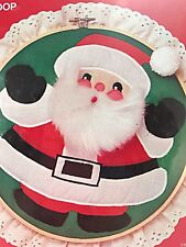 """1982 Designs For the Needle Calico's Applique in 10"""" Hoop #2203 Santa Kit"""