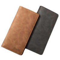 Men's Leather Bifold Credit ID Card Holder Suit Wallet Purse Checkbook Clutch
