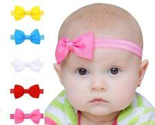 5PC Baby Ragazze Colorato Mini bowknot elastico HairBand Cerchietto