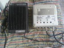 Amplificatore larga banda,tv Fracarro JH7RPUU-vhf 108-uhf 112-alimentatore KP 32
