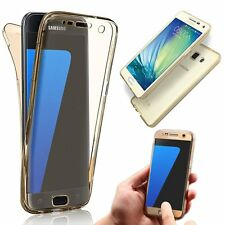 ShockProof 360° Silicone Protective Bumper Clear Case Cover For Samsung iPhone