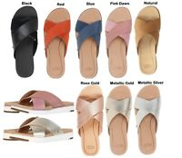 Authentic UGG Brand Women's Kari Cross Strap Sandals Slipper Shoes Many Colors