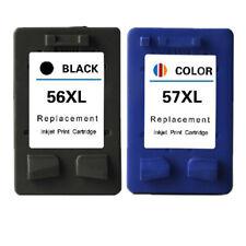 2x Cartridges Compatible For HP 56 57 XL Deskjet 450 5150 5550 5551 5650 5850