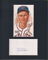 Bobby Doerr Autographed Cut With Postcard Matted 8x10 wCOA 073019DBT