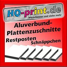 €19,90/m² Aluverbundplatte weiss 3mm 25x40cm Verbundplatte Aluminium Kunststoff