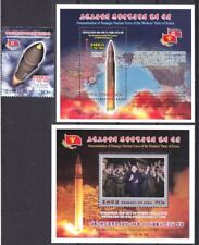 L3667, Korea Second Launch Hwasong-14 Missile 3 pcs Stamp and MS, Jun 28, 2017