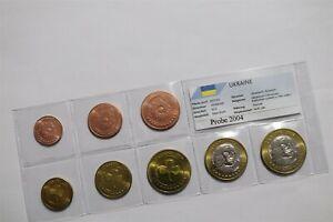 UKRAINE 2004 FANTASY EURO PATTERN COIN SET B36 #174