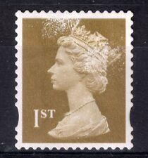 GB = QE2 era, Gold 1st NVI FORGERY. Print disturbance all over stamp. (c)