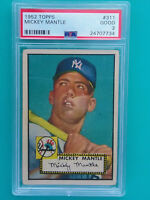 1952 Topps Mickey Mantle #311 PSA 2 Beautifully Centered