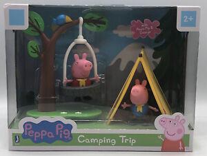 ⚡Peppa Pig Camping Trip Playtime Set Peppa & George Tire Swing TentTree Bird NEW