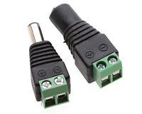 20x DC Male+Females Power Connectors Jack Plugs 3528 LED Strips CCTV 2.1x 5._ws