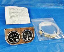 Vintage Leece Neville dual gauge panel original 1960s era oil+amp gauges hotrod