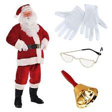L/XL Deluxe REGAL PLUSH Santa Claus Father Christmas Suit Fancy Dress Costume BN