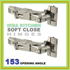 IKEA HINGES UTRUSTA SOFT CLOSE KITCHEN  METOD 153 DEGREE NEW 2 PACK 104.272.62